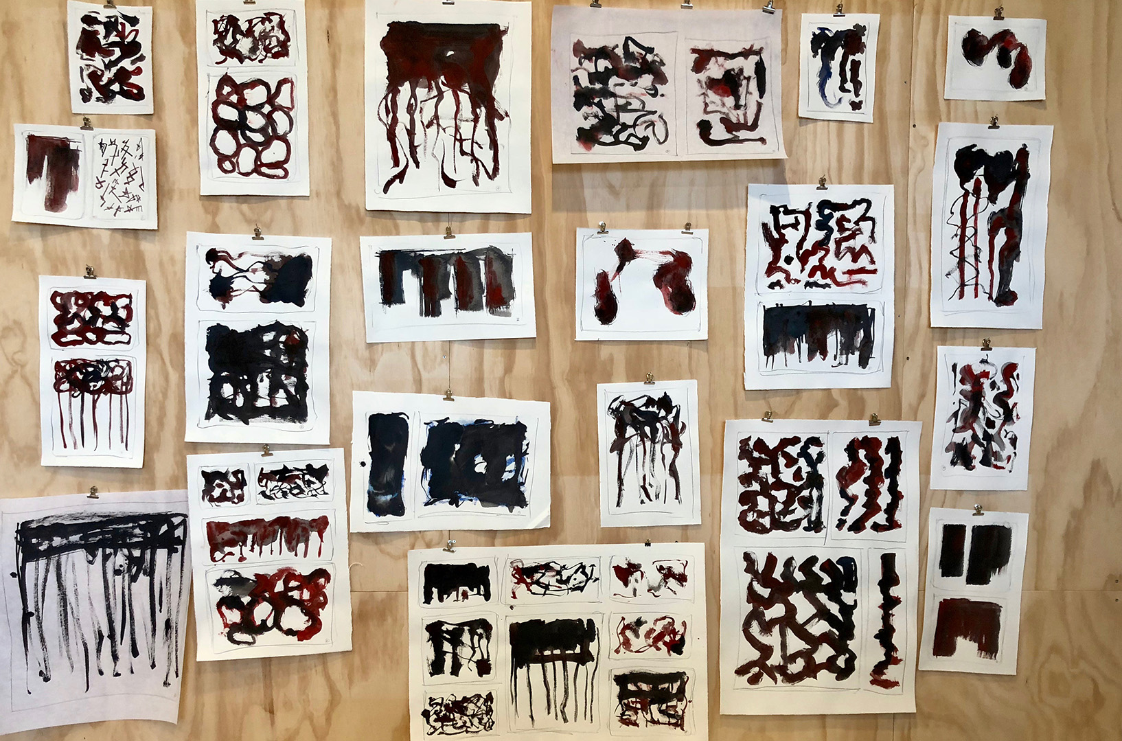 New ink paintings