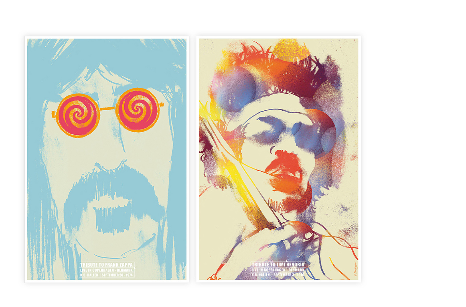 Frank Zappa · Jimi Hendrix